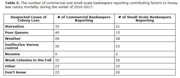 Ontario Apiarist bee losses